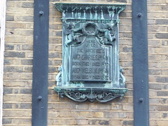 Photo of Augustus Charles Pugin and Augustus Pugin stone plaque