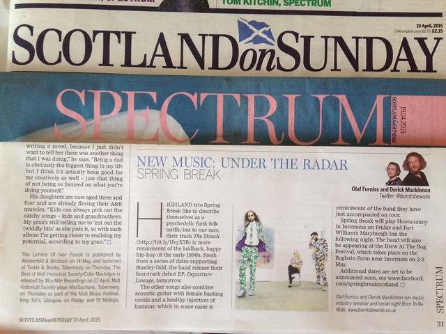 Olaf Furniss and Derick Mackinnon Scotland On Sunday, Spectrum Magazine 3 May 2015, Halfrican
