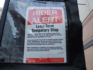Long term temporary stop sign