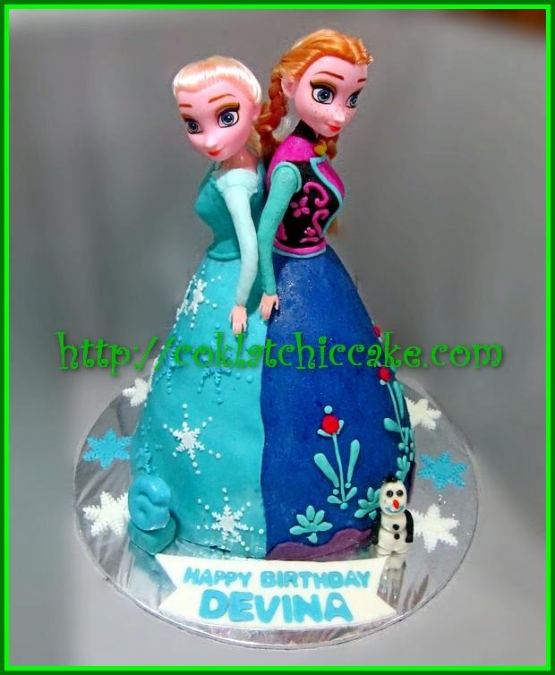 Cake Elsa Anna Frozen Cake Barbie Devina Jual Kue Ulang Tahun