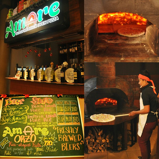 Amare woodfire brick oven pizza