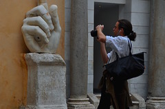 Stone Hand,Taking Photos in Capitoline Museums