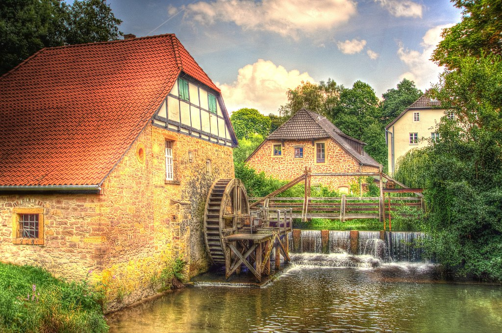 Watermill Lemgo-Brake-Germany