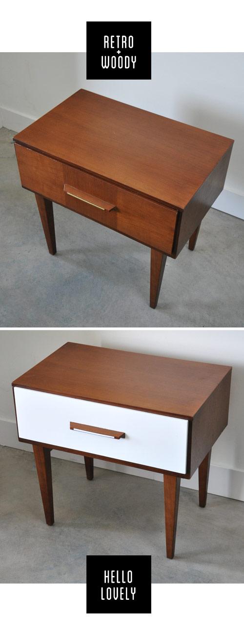 mueble blanco y madera