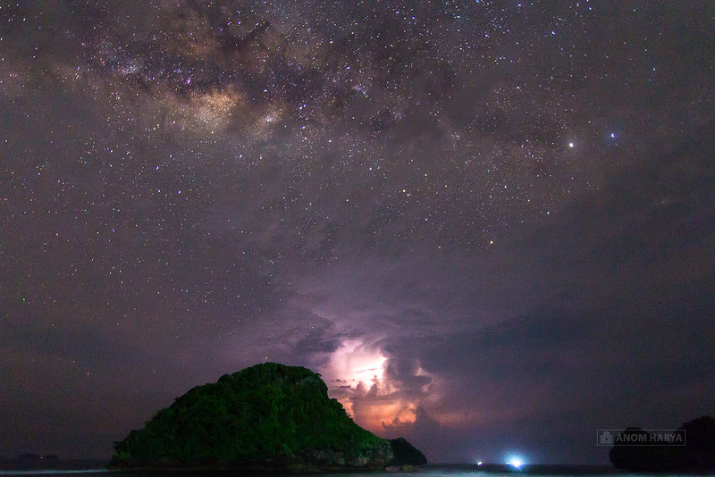 Milkyway di Pantai Goa Cina