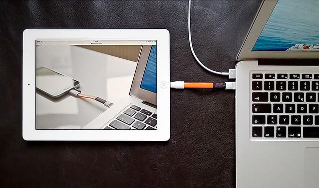 USB ChargeDoubler with iPad