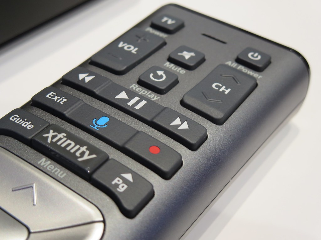 Xfinity remote close-up | The voice-search function relies o… | Flickr