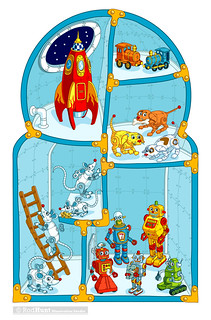 Magic Number Machine Children's Picture Book Illustration by Rod Hunt
