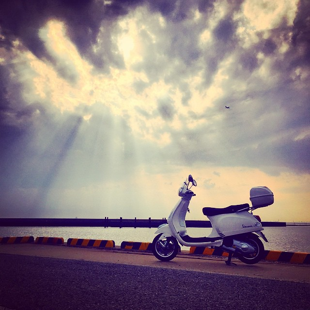 ベスパで木更津の海へ。