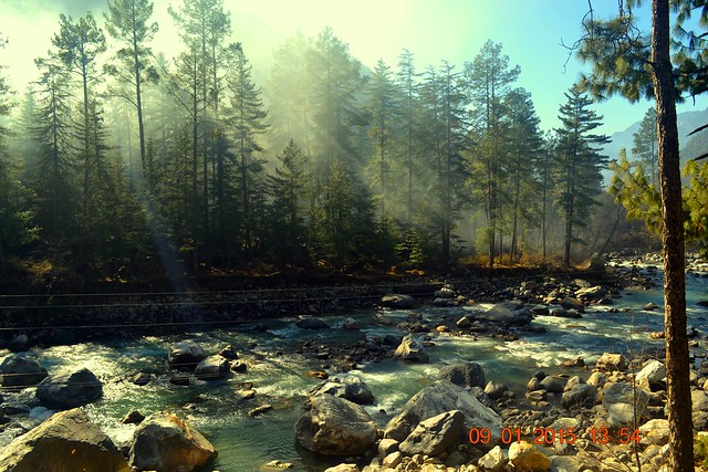 View of the Parvati River as it flows there. Credits - Rupayan Banerjee