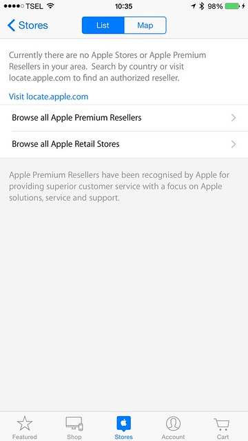 Apple Store iOS App - Stores