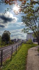 Walking railway avenue