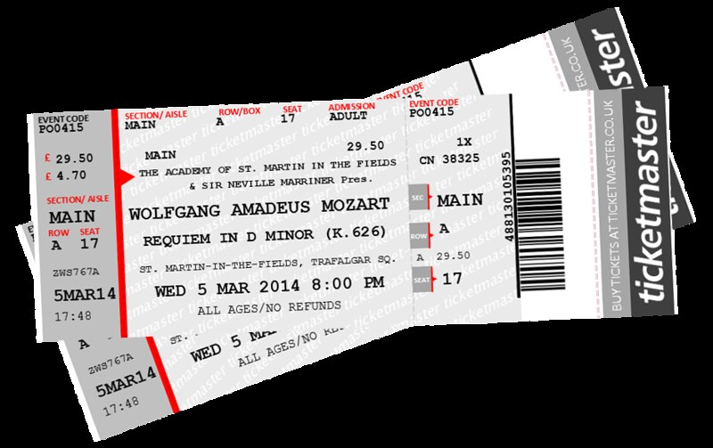 Concert Tickets to Mozart's Requiem