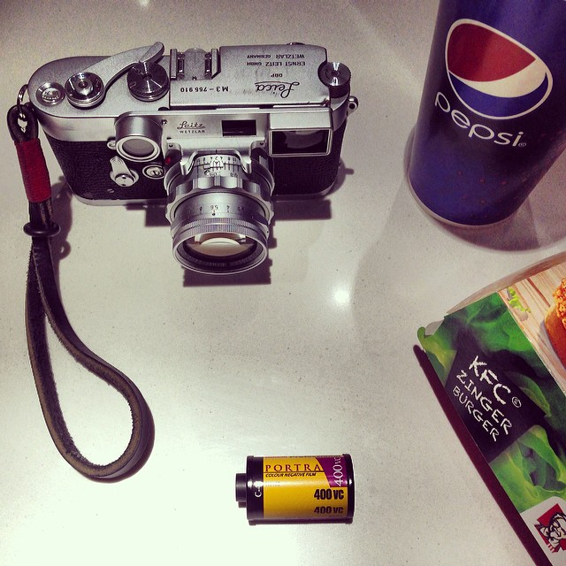 #filmchallenge 1x roll of Kodak Portra 400 VC (36 exposures), 1x Leica M3 rangefinder film camera, 1x Leica Summicron 50f2 DR, 5 hours of walking the streets taking photos of anything that caught my eye and finished off with 1x KFC meal :) #kodakfilm #lei