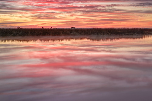 morning winter light sky color reflection nature water clouds sunrise canon watercolor georgia landscape dawn cool warm marsh canon2470mm canon7d barbourriverlanding