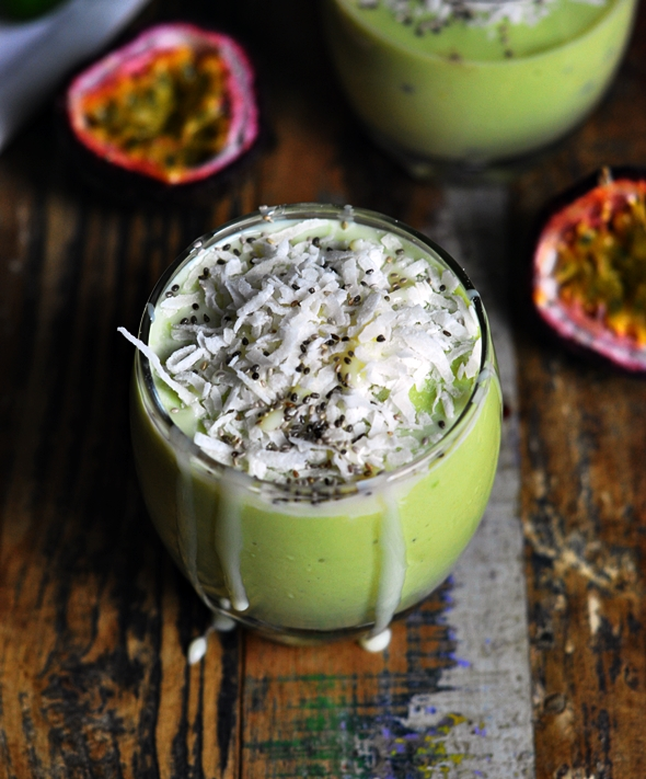 Vietnamese Avocado Shake with Passionfruit | www.fussfreecooking.com