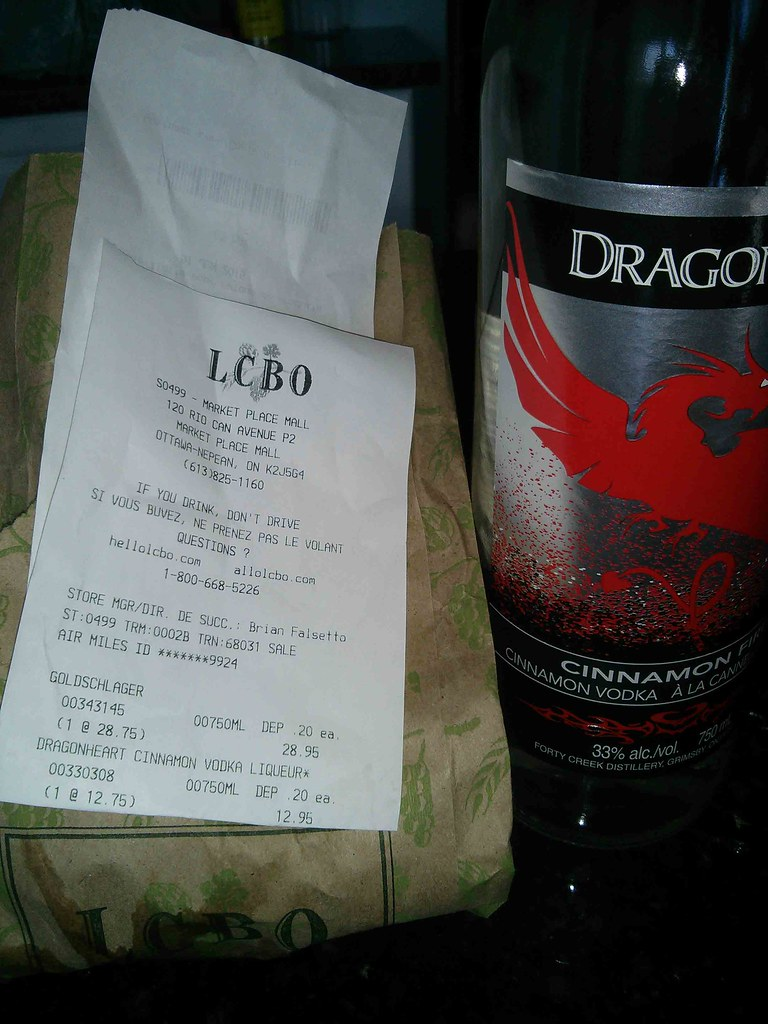 LCBO Dragonheart Vodka Liqueur