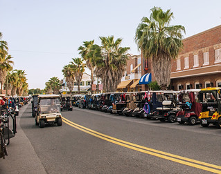 Golf Cars at The Villages, Florida