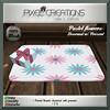 [PC] PIXEL CREATIONS - PASTEL FLOWERS DOORMAT W/PRESENT