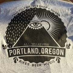 Yesterday's t-shirt of the day: @velocult. Definitely need to make it back out to the PDX and visit them and many others.