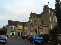 Photo of Culcheth Hall School blue plaque