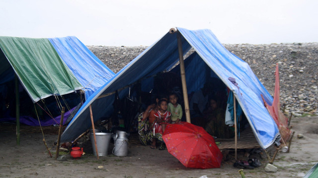 File photo of inmates at the Narayanguri makeshift camps in Baksa district