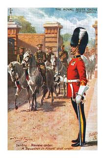 The Royal Scots Greys postcard by Harry Payne