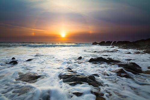 california sunset halo pebblebeach sundog
