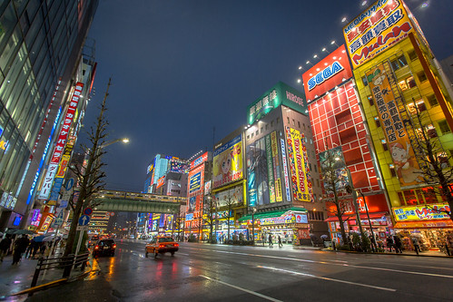 Akihabara District at Night