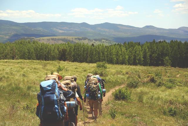 Des routards sur le Grassland Trail...