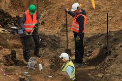 Ausgrabung auf der Baustelle Schloßstraße (54)