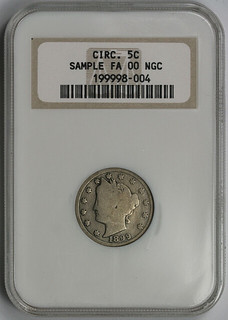NGC sample slab 1899 Liberty Nickel