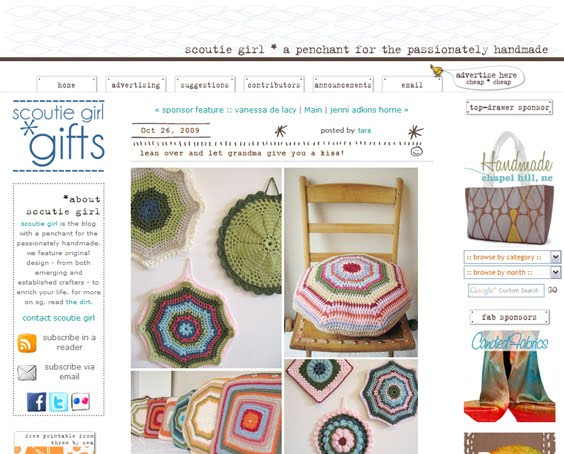 Granny Chic feature on Scoutie Girl including crochet designs by Emma Lamb