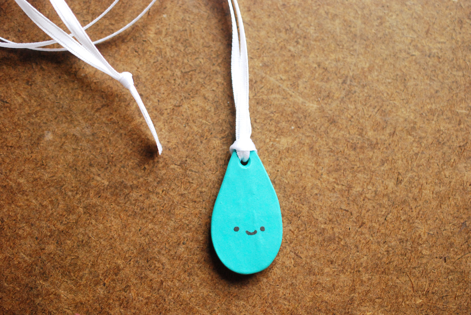 Polymer Clay Raindrop Necklace