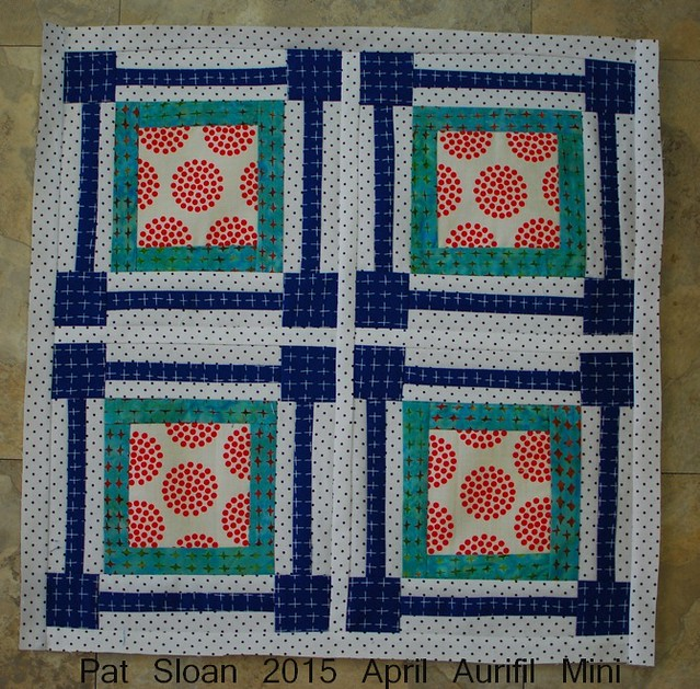 pat sloan Aurifil Mini april 2015