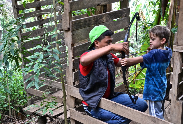 archery practice - Green Rush Nature Park, Guatemala