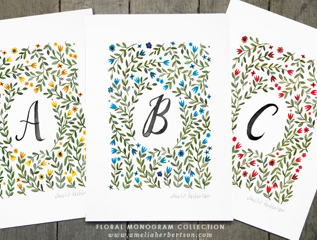 Floral Monogram Collection