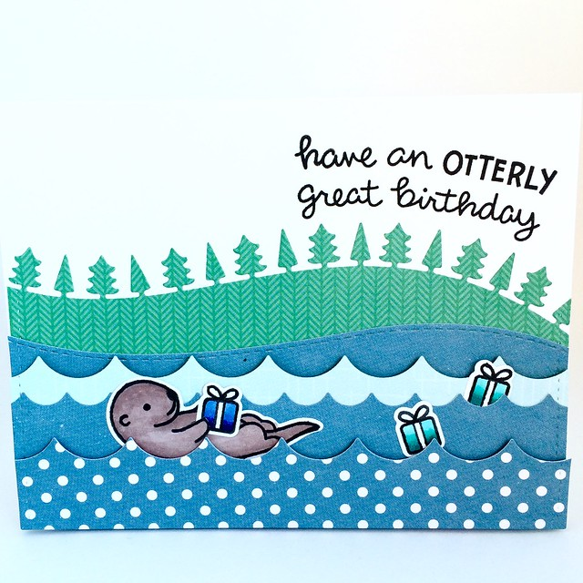 Otter Birthday! #birthdaycard #lawnfawn