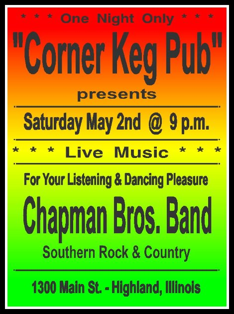 Chapman Bros Band 5-2-15