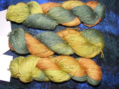 Falling Leaves, bfl nep sock yarn