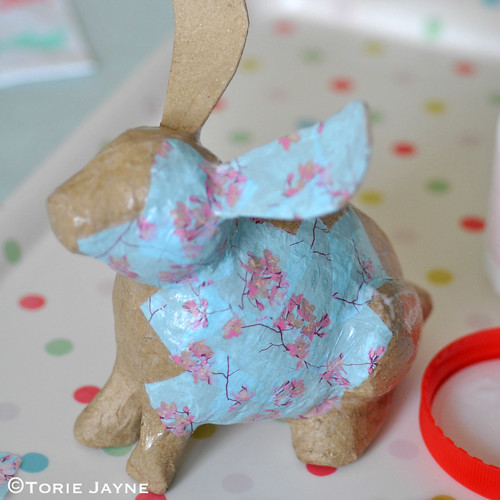 decoupage bunny tutorial 2