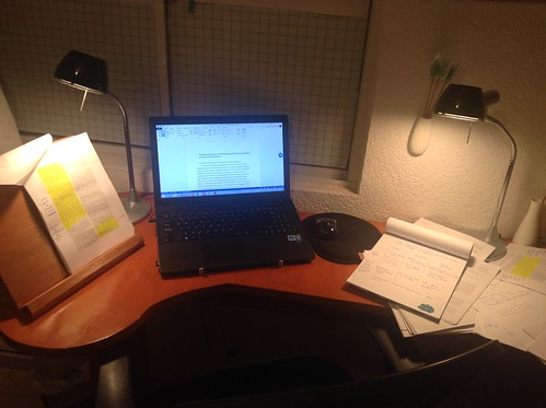Home office in Aguascalientes at night