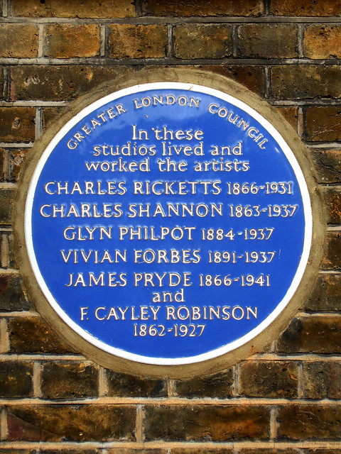 Photo of Charles Ricketts, Glyn Philpot, James Pryde, Frederick Cayley Robinson, and 2 other