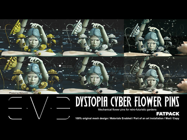 Dystopia Cyber Flower Pins Fatpack