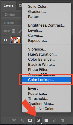 Photoshop color lookup