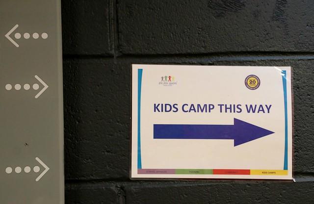 fit 4 sport kids camp sign