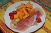Melon salad with Parma ham