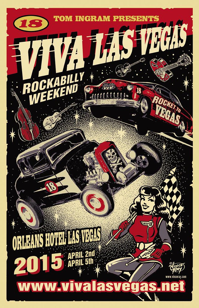 Viva Las Vegas 2015 flyer by Vince Ray