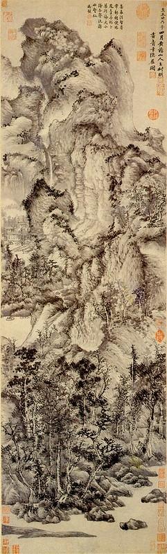 Wang Meng - Dwelling in the Qingbian Mountains