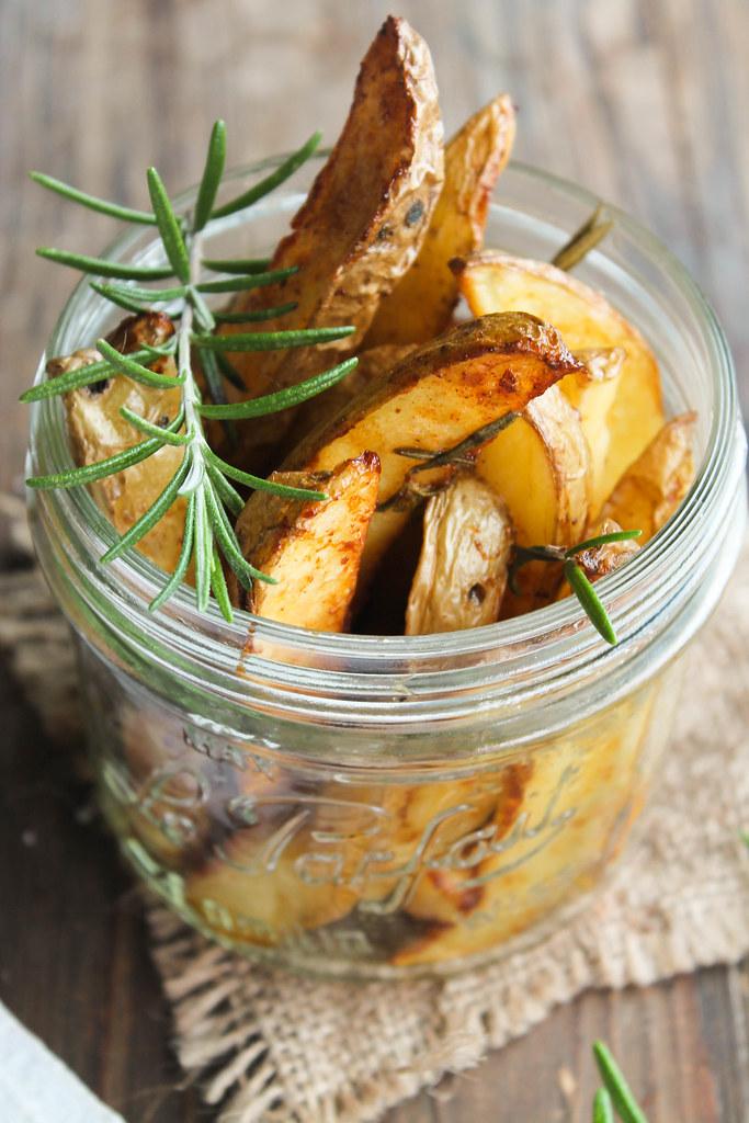 Poulet rôti pommes de terre